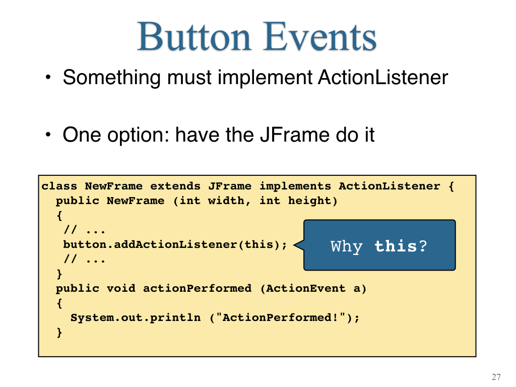 java button add action listener